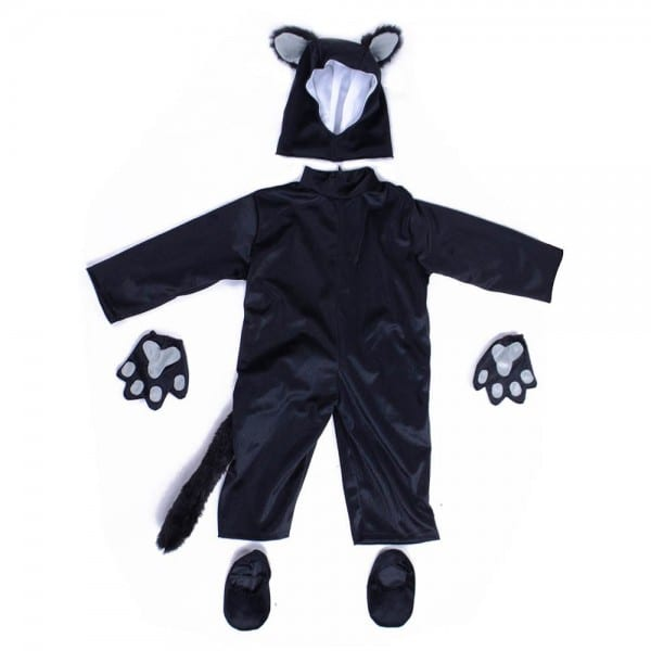 Kids Black Cat Costume Little Kitten Cosplay Costume Animal Onesie