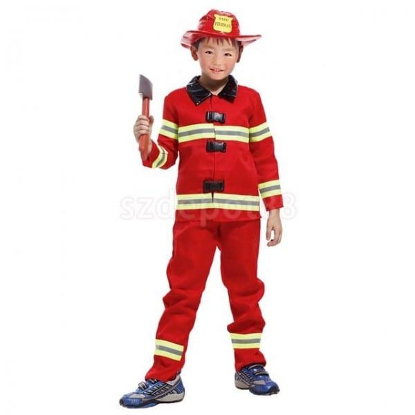 Aliexpress Com   Buy Kids Boys Red Firefighter Suit Halloween
