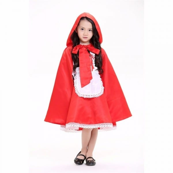 Kids Fairy Tale Costume Little Red Riding Hood Costume Little Girl
