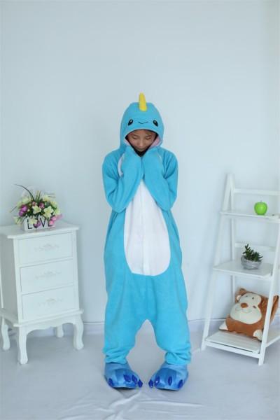 Kigurumi Animal Cosplay Costume Narwhal Onesies Sleepwear Mens