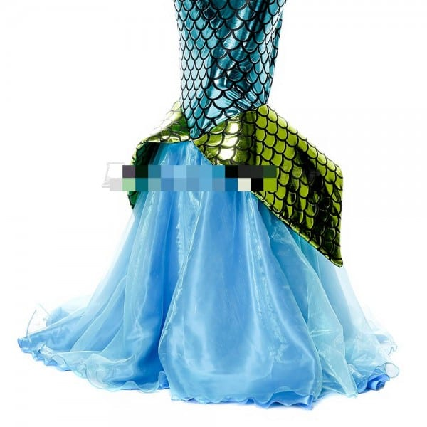 Little Mermaid Tail Princess Ariel Cosplay Costume Mermaid Fancy