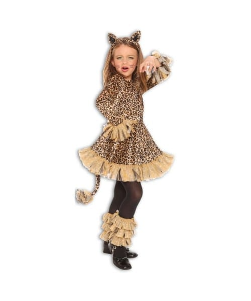 Lovely Leopard Jungle Cheetah Animal Girls Halloween Costume