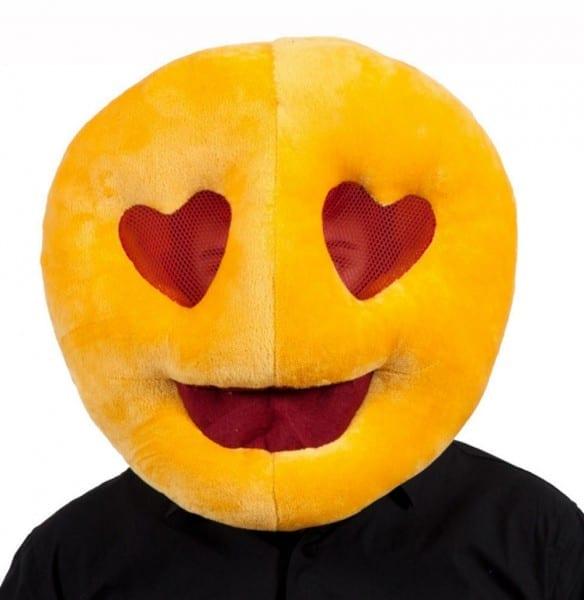 Love Heart Eyes Emoji Face Mask