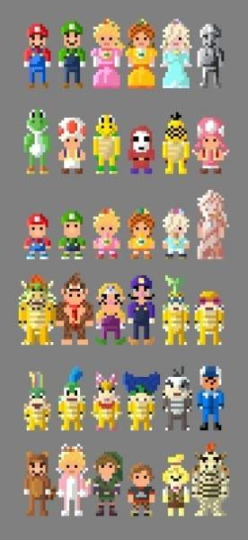 Mario Kart 8 Characters 8 Bit By Lustriouscharming On Deviantart