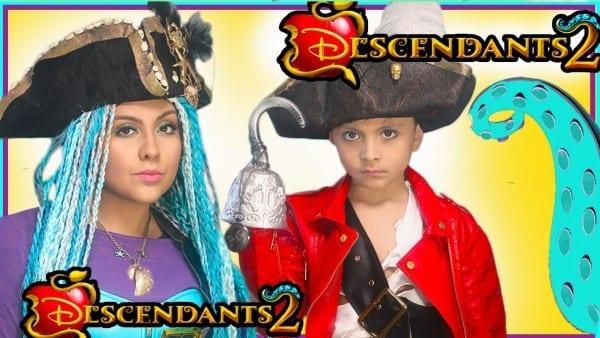 Disney Descendants 2 Uma And Harry Costume Makeup Tutorial