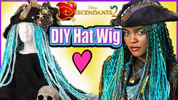 Disney Descendants 2 Uma Pirate Wig Hat Diy Disney Princess Makeup