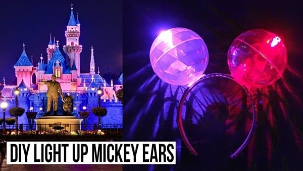Diy Light Up Mickey Minnie Ear Headband Made For Less Than $4