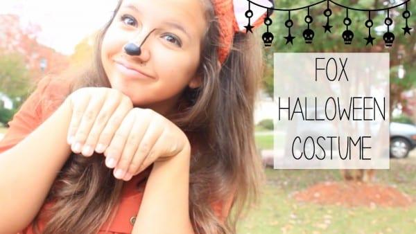 Last Minute Fox Halloween Costume!