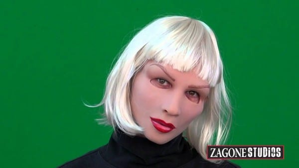 Sexy Blonde Female Halloween Mask Transform To A Woman Transgender