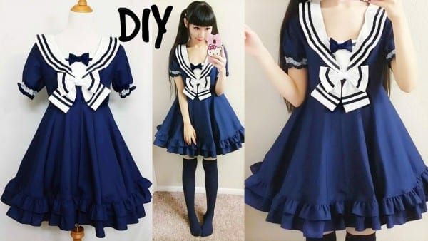 Diy Easy Navy Sailor Dress (short Sleeves) Step By Step With