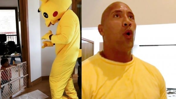 The Rock' Dances To 'juju On That Beat' In Pikachu Costume