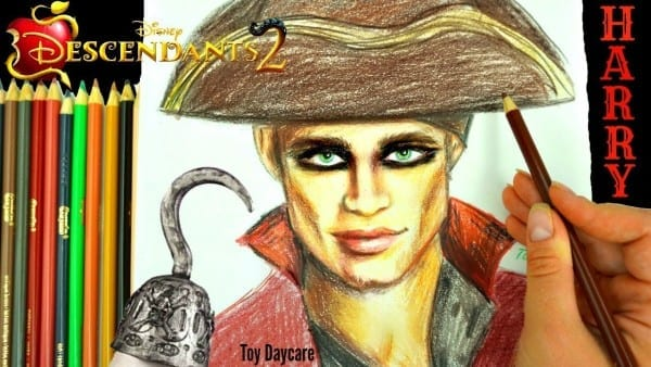 Disney Descendants 2 Harry Hook Drawing  Learn How To Draw The New
