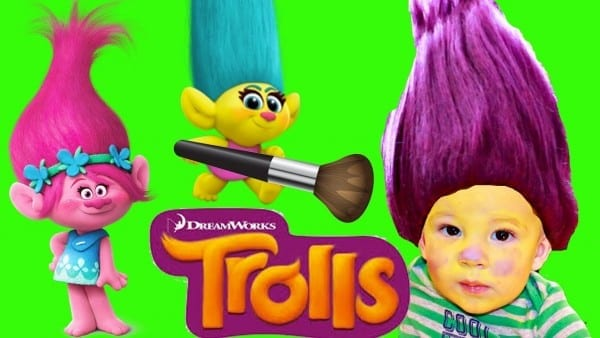 Trolls Makeover For A Baby Smidge Troll + Wig Costume