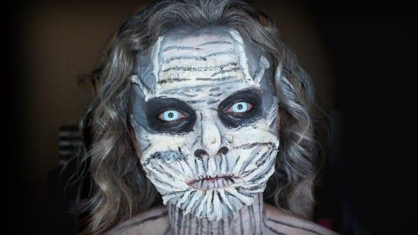 Game Of Thrones White Walker Halloween Makeup Tutorial