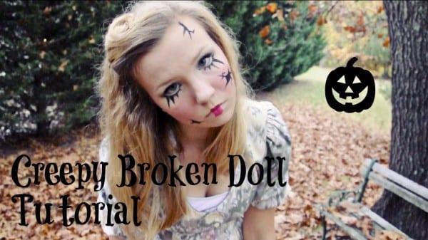 Creepy Broken Doll  Hair, Makeup, And Costume Tutorial!