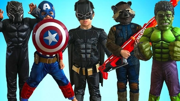 Kids Costume Runway Show Superheroes Marvel Dc Disney Dress Up Fun