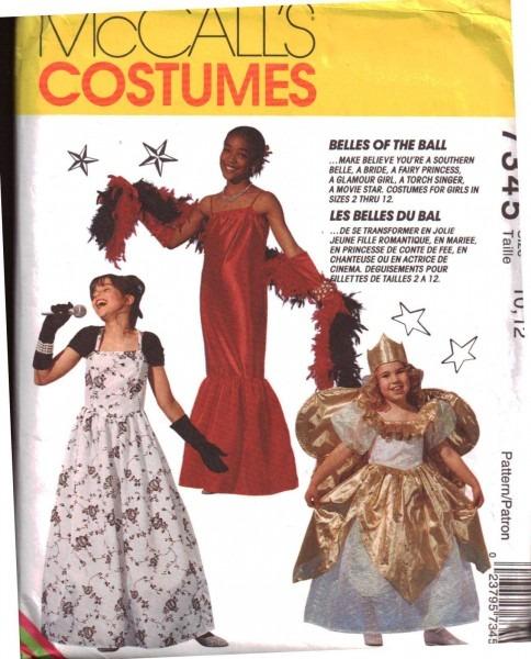 Mccall's 7345 Girl's Costumes