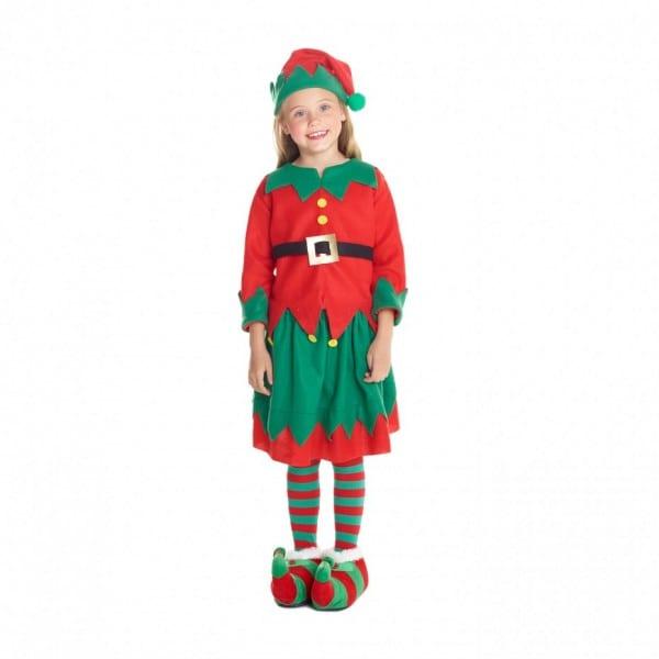 Girls Christmas Elf Costume