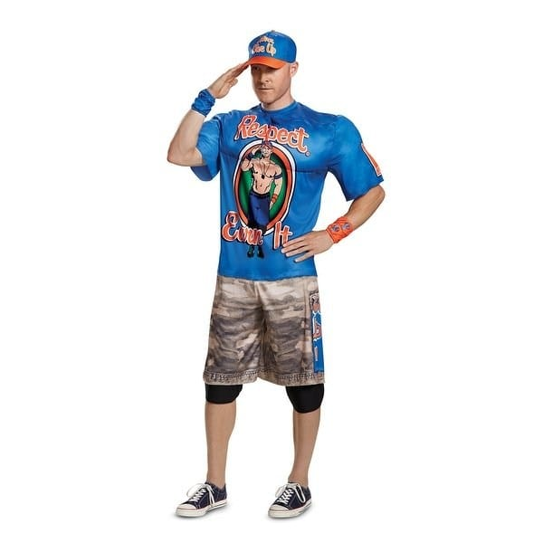 Shop Mens John Cena Blue R E I  Muscle Wwe Wrestler Costume