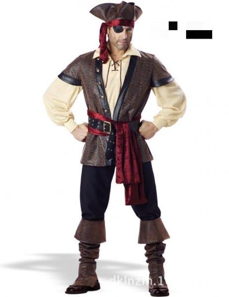 Mens Pirate Costume Jake Pirate Costume Adult Male Pirate Costume