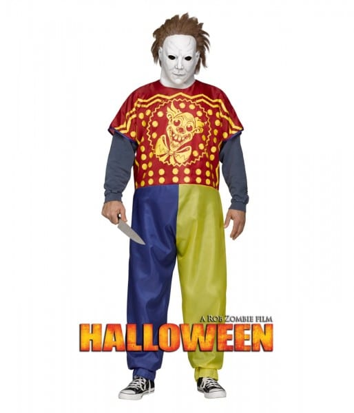 Michael Myers Big Boys Rob Zombie Halloween Clown Costume & Latex