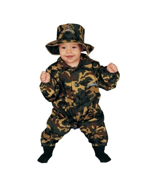 Army Military Officer Baby Costume