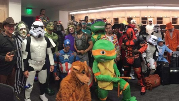 Pirates Dress Up As Superheroes Before Road Trip