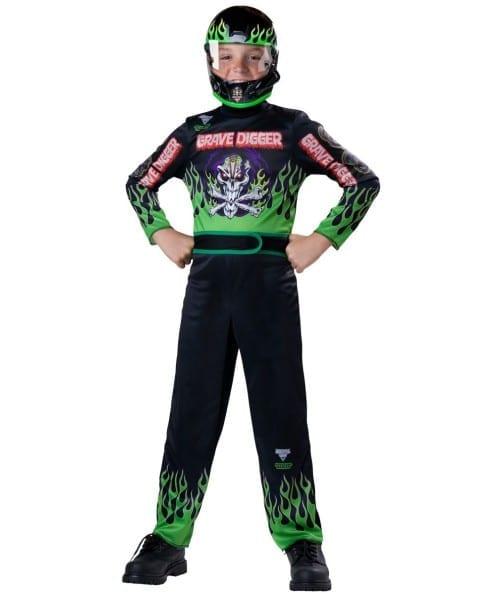 Grave Digger Race Car Driver Boy Costume