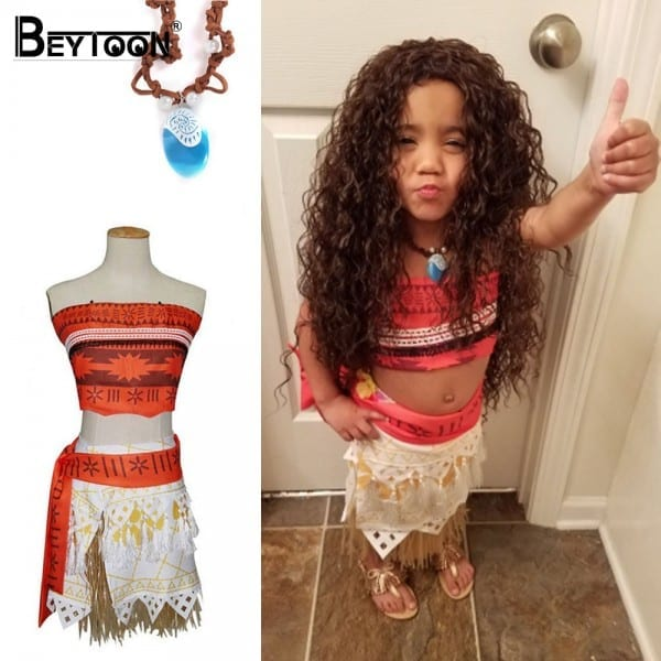 Movie Princess Moana Costume For Kids Moana Princess Dress Cosplay