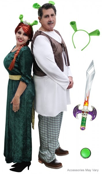 New! Plus Size Fiona & Shrek Couples Halloween Costume Xl 0x 1x 2x