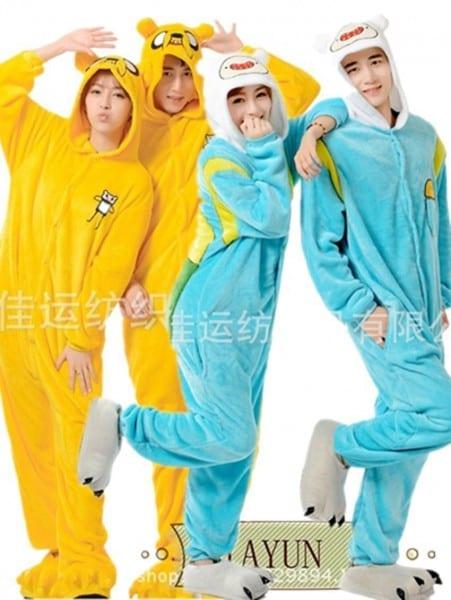 New Unisex Pajamas Anime Cosplay Costume Adult Adventure Time Finn