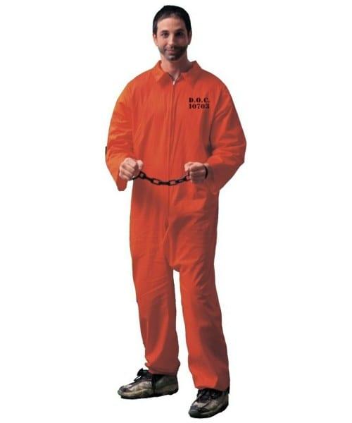 Prisoner Adult Costume Orange