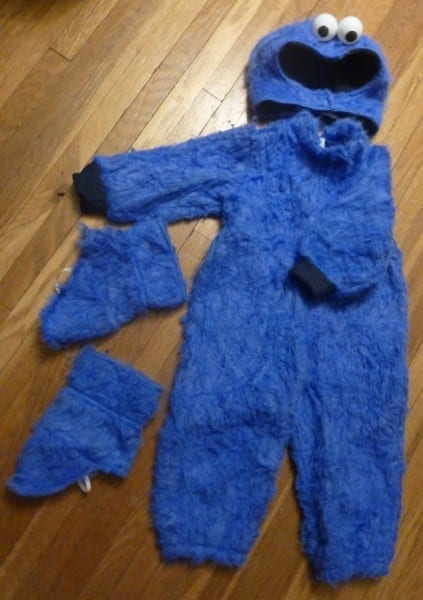 Homemade Cookie Monster Costume, Part Deux