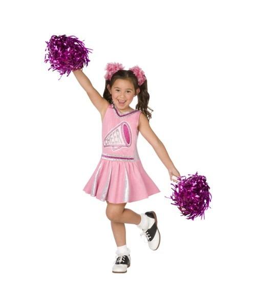 Cheerleader Pink Kids Costume