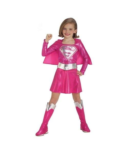 Pink Supergirl Kids Movie Superhero Costume