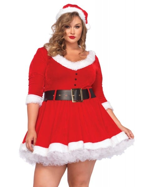 Plus Size Mrs  Santa Christmas Costume
