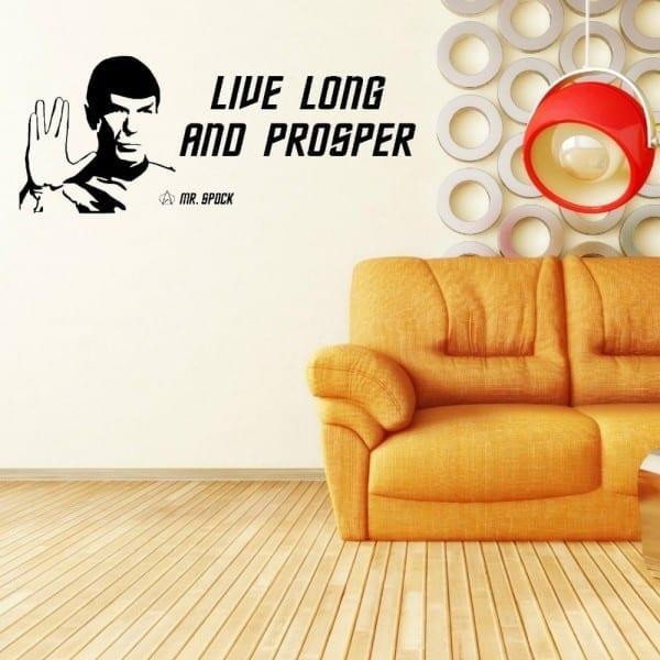 Plus Size Star Trek Spock Leonard Nimoy Live Long And Prosper