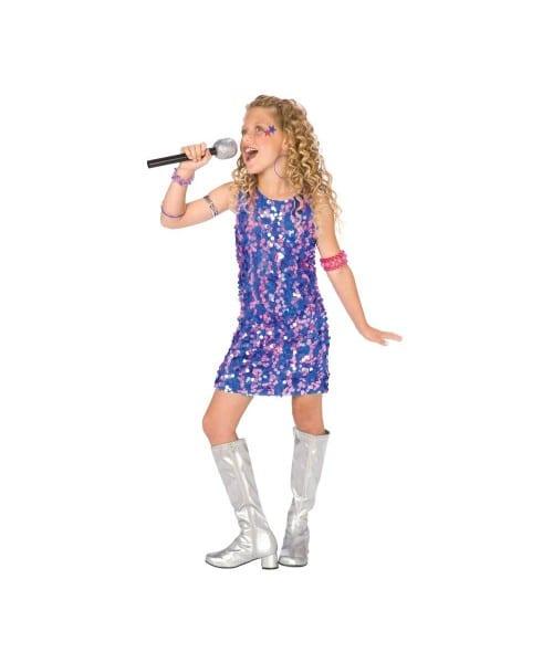 Pop Star Diva Girl Halloween Costume