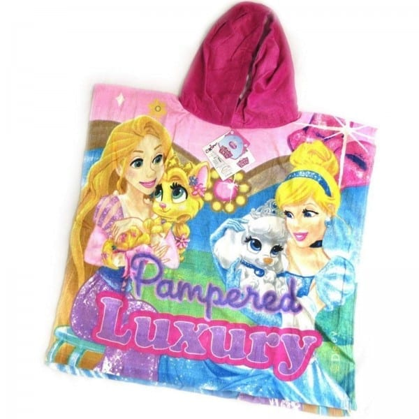Disney Princess Palace Pets Poncho Girls Character Hooded 100
