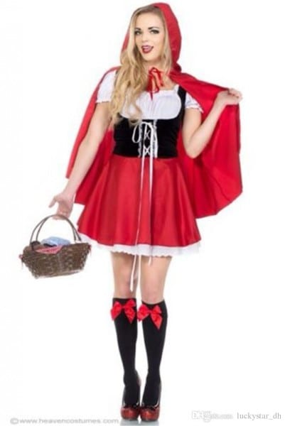 Sexy Fairy Tales Little Red Riding Hood Costume Adult Women
