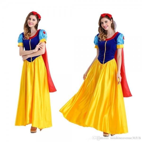 Costumes Women Classic Beauty Fairytale Princess Long Dress Gown