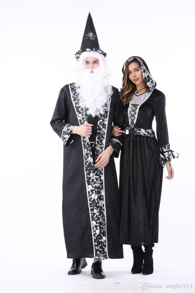 2017 New Adult Death Costume Halloween Cosplay Costume Men Court