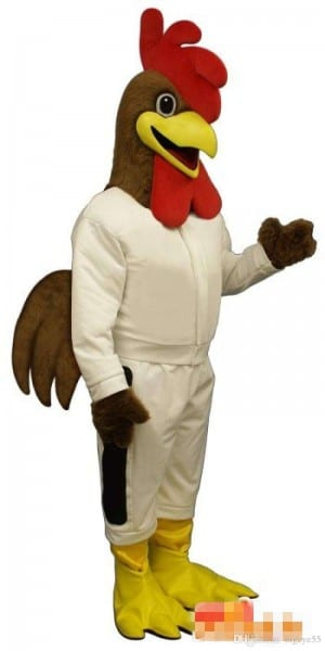 Custom Brown Cock Mascot Costume Custom Costumes Makers Mascot