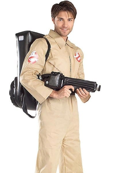 Mens Ghostbusters Costume, Ghost Catching Tan Jumpsuit