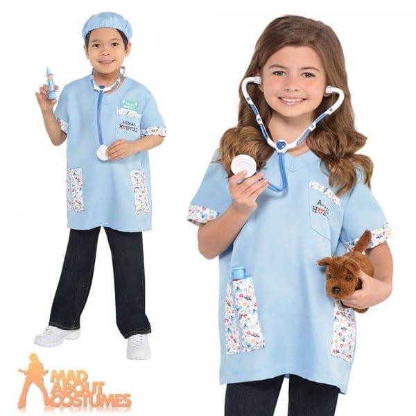 Childs Vet Costume Girls Boys Animal Doctor Surgeon Fancy Dress