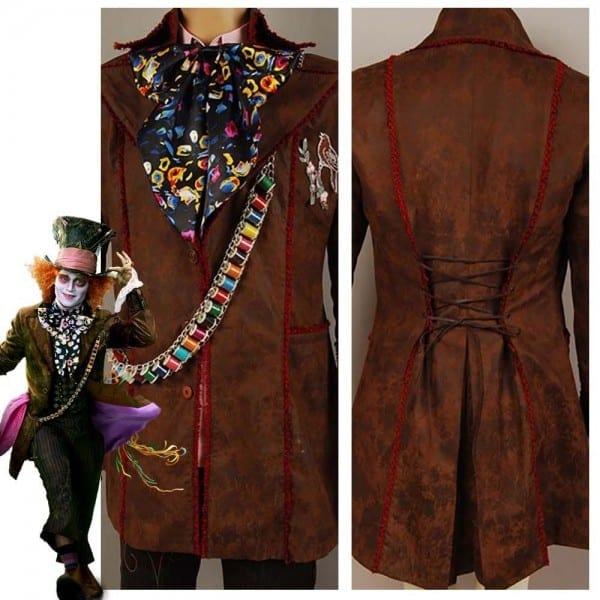 Johnny Depp As Mad Hatter Outfit Alice In Wonderland Jacket Pants