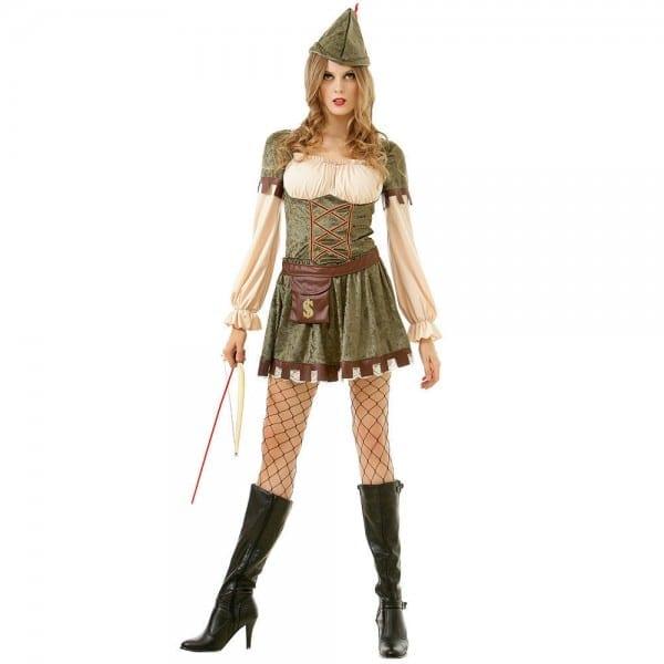 Lady Robin Hood Women Halloween Costume Medieval Time Female Dress