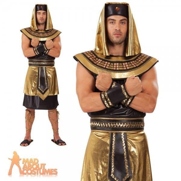 Adult Egyptian King Costume Pharaoh Ancient Greek Mens Fancy Dress