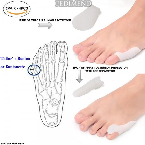 Pedimend™ Pinky Toe Bunion Corrector With Toe Separator & Tailor's