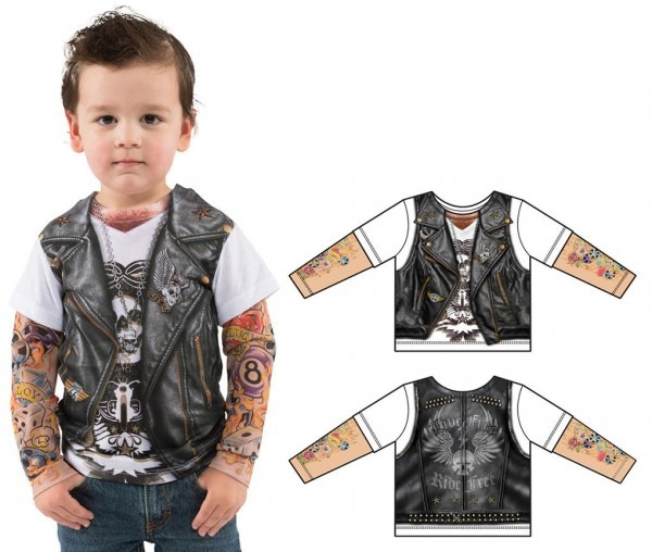 Tattoo Tee W Mesh Tattoo Sleeves Fancy Dress Costume Toddler T3t